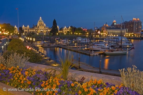 Photo: Illuminated Victoria Harbor Parliament Buildings