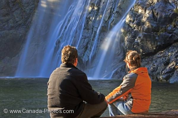 Photo: Scenic Waterfall Couple Virgin Falls