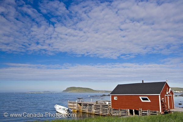 Photo: Waterfront Building Fishing Stage L Anse Aux Meadows