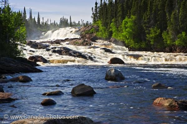 Photo: White Bear River Waterfall Southern Labrador