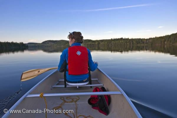 Photo: Woman Canoeing Algonquin Provincial Park