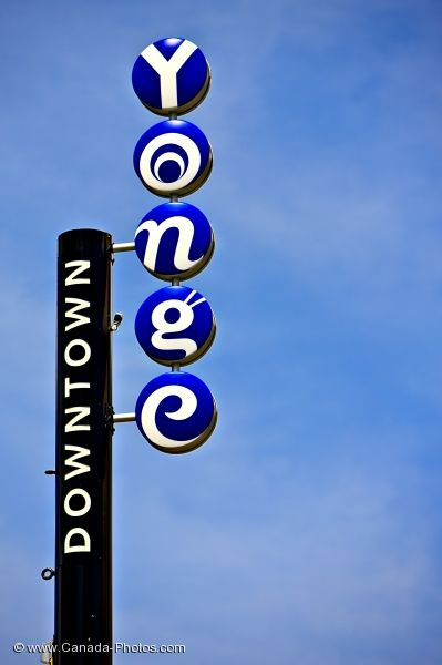 Photo: Downtown Toronto Yonge Street Sign