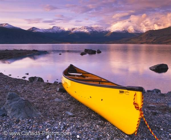 Photo: Kluane Lake Yukon Sunset Canoe